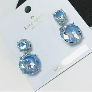 New - Kate Spade Crystal Stud Earrings Blue